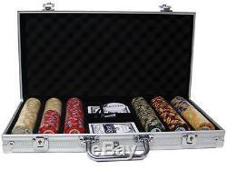 300 Ct Custom Breakout Nile Club Poker Chip Set