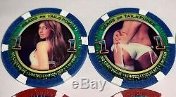 300 Paulson HEADS OR TAILS Sexy Limited Edition Poker/Casino Chip Set RARE/HTF