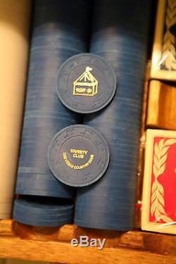 300 Paulson Hat Cane Tent 39 Celebrity Golf Tournament poker chip set Las Vegas