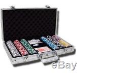 300 Piece Ace Casino 14 Gram Clay Poker Chip Set with Aluminum Case (Custom) New