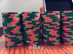 330 Paulson Classic Tophat & Cane Poker Chip Set Very Rare Full Set