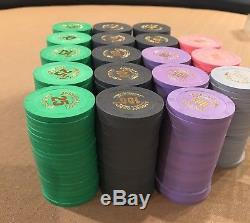(360) ARGOSY CASINO PAULSON POKER CHIPS Hot stamped Tournament Set