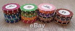 (37) Bud Jones R4 Roulette Manufacturer Color Sample Chip Set Casino Poker Wheel