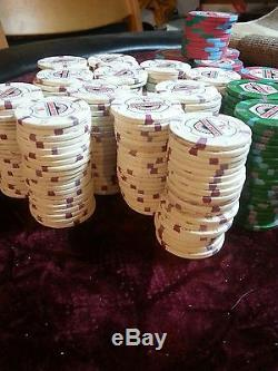 400 Chip Set Count Paulson Poker Chips Casino Aztar $1 $5 $25 FREE SHIPPING
