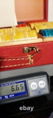 400 Vintage 1930s-1940s Era Bakelite Catalin Poker Chips Set in locking case