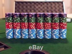 410 Rare Sidepot Gaming Protege Clay Poker Chip Set Used Great Condition