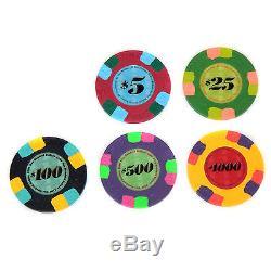 440 Paulson Classic Top Hat & Cane Poker Chip Set Free Racks Excellent Condition