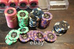 450 X Jetons Paulson Poker Set Horseshoe Casino Chips Clay