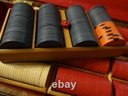 461 Vintage 1950s Casino CLAY BC Wills / Burt Co. POKER CHIPS SET