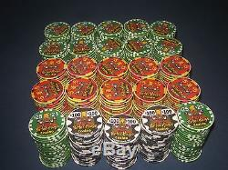 497 Poker Chip Set Porter House Casino, Moses Lake, WA. New Chipco Chips Rare