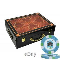 500 14g Knights Casino Clay Poker Chips Set High Gloss Wood Case Custom Build