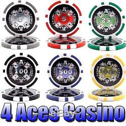 500 Ace Casino Poker Chip Set. 14 Gram Heavy Weighted Poker Chips