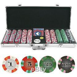 500 Chip Poker Chip Set, NexGenT PRO Classic Style Set with Aluminum Case
