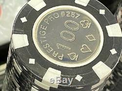 500 Coin Inlay Prestige Pro Professional Clay Poker Chips Set Aluminum Case NEW