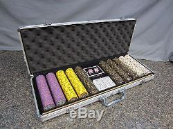 500 Count Aluminum Case Nevada Jack Poker Chip Set 838369458
