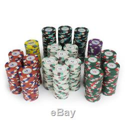 500 Count Claysmith'Poker Knights' Poker Chips Set in Black Aluminum Case