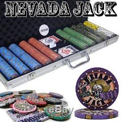 500 Ct Black Aluminum Case Nevada Jack Poker Chip Set
