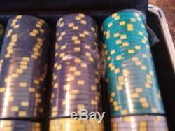 500 Ct Black Aluminum Case Nevada Jack Poker Chip Set