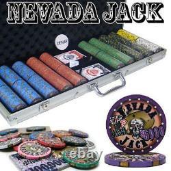 500 Ct Nevada Jack 10 Gram Ceramic Poker Chip Set With Aluminum Case Csnj-500Al