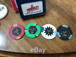 500 Horseshoe Cincinnati Casino Chips PAULSON Clay TOP HAT CANE Cash Game Set