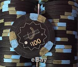 500 Horseshoe Cincinnati Casino Chips PAULSON Clay TOP HAT CANE Cash Set