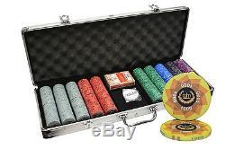 500 Laurel Crown Ceramic Poker Chips Set Custom Build Aluminum Case