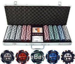 500 Piece Pro Poker Stars Clay Poker Set Chips