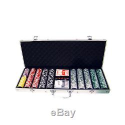 500 Piece Ultimate 14 Gram Clay Poker Chip Set with Aluminum Case (Custom) New