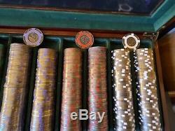 500 Tangiers Casino Las Vegas BRASS CORE Poker only Chips Set $500 100 25 10 5 1