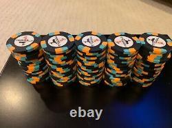 (500) Used Paulson Pharaohs Poker Chip Set No Denomination