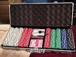 500 ct Aluminum Case Casino Style Gaming Chip Set 11.75 grams