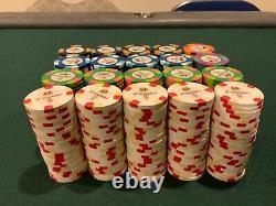 500 ct Paulson Pharaohs Casino Poker Chip Set No Denomination