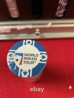 500 piece World Poker Tour Chip Set Rotating base with Handle