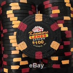 500 poker chip set from Kenmore Lanes Card Room, by ASM not Paulson, used