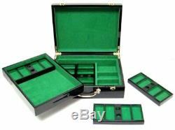 500ct. Ace Casino 14g Poker Chip Set in Hi-Gloss Wooden Carry Case