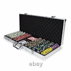 500ct. Showdown 13.5g Poker Chip Set in Aluminum Carry Case