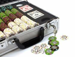 500ct. The Mint Clay Composite 13.5g Poker Chip Set in Aluminum Claysmith Case