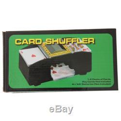 500pc Matte Las Vegas Nevada Poker Chip Set + 2 Decks Automatic Card Shuffler
