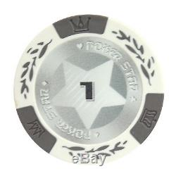 500pc Poker Star Clay Poker Chip Set with Aluminum Case