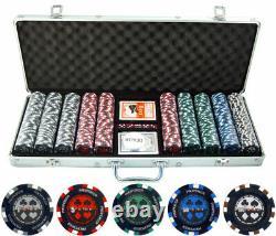 500pc Pro Poker 13.5g Clay Poker Set