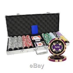 500pcs 14G ACE CASINO TABLE CLAY POKER CHIPS SET