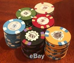 530 Rare Sidepot Poker Protege Chips Complete Set, Excellent Condition