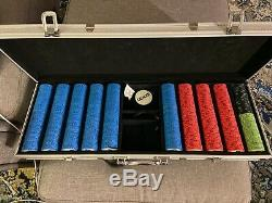 540ct. Nevada Jack Ceramic 10g Poker Chip Set in Aluminum Metal Carry Case
