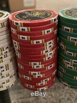 550 Set Of Chipco Newcastle Resort & Casino Poker Chip Set With Case