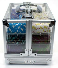 600 Count Claysmith'The Mint' Poker Chips Set in Clear Acrylic Case