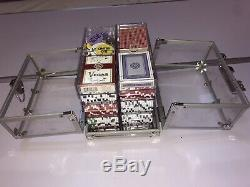 600 Count Poker Chips Set Acrylic Carrier Case with 6 Clear Chip Trays