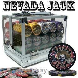 600 Ct Nevada Jack 10 Gram Ceramic Poker Chip Set With Acrylic Case Csnj-600Ac