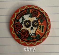 600-Dia De Los Muertos Ceramic Poker Chip Set