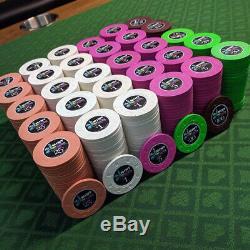 600 Piece Paulson The Mint Las Vegas Commemorative Tribute Poker Chip Set