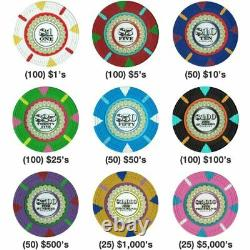 600ct. The Mint Clay Composite 13.5g Poker Chip Set in Acrylic Case